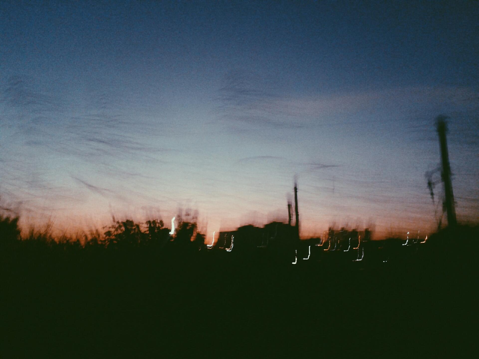 pôr do sol em movimento :)