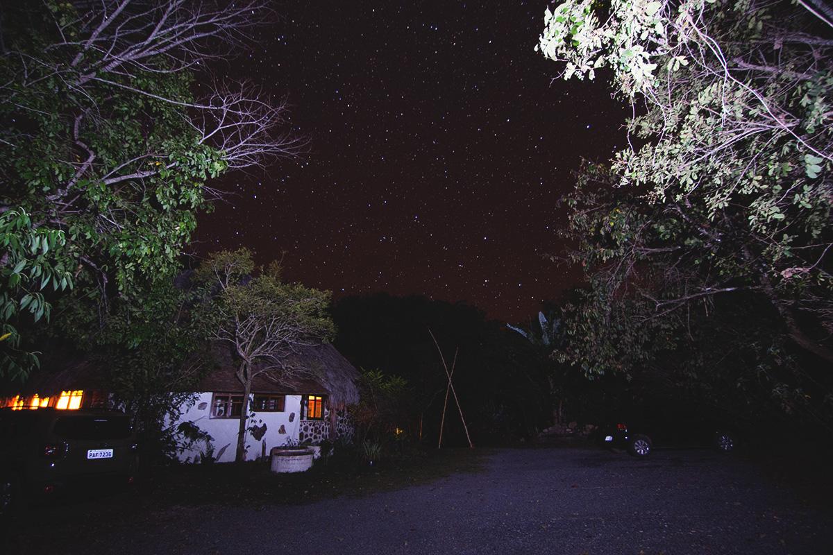 A pousada a noite e esse céu maravilhoso!